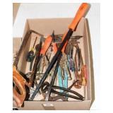 Tools - Visegrips, pliers, saw