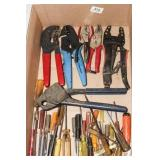 small screwdrivers, crimpers