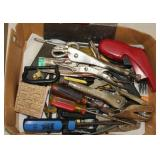 Misc Tools - screwdrivers, vise grips, knife