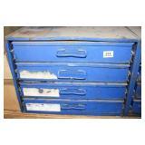 Blue Metal 4-drawer Organizer