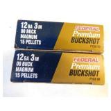 12 GU SHOTGUN SHELLS 3 INCH 00 BUCK