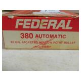380 AUTO AMMO 50 ROUNDS (FEDERAL)