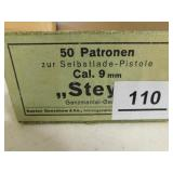 9MM AMMO 50 ROUNDS (GERMAN)