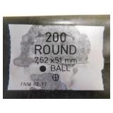 7.62 X 51 MM BALL  200 ROUNDS