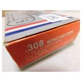 .308 WINCHESTER PARTIAL BOX -8 ROUNDS + BRASS