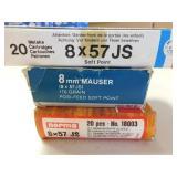 8MM MAUSER(8 X 57 JS) PARTIAL BOXES (47 TOTAL
