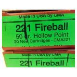 .221 FIREBALL 20 ROUNDS (CMA)