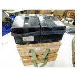 EMPTY WOODEN BOXES AND SHIPPING BOXES
