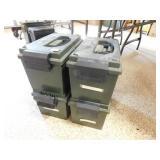 4 LARGE PLASTIC AMMO BOXES (MTM)