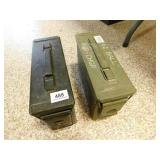 2 SMALL METAL AMMO BOXES