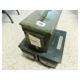 3 METAL AMMO BOXES