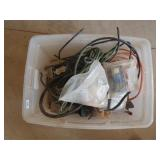 extension cords, misc junction boxes,