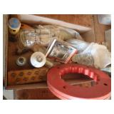 fish tape, cylinder hone, goggles, thermometer