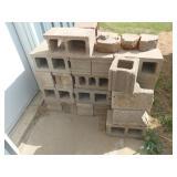 cinder blocks, approx 36