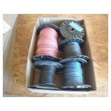 4 partial rolls of 16 AWG, partial role of 10 AWG