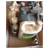 hydraulic oil, motor oil,