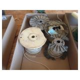 4 partial rolls of 10 AWG wire