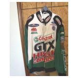 Castrol GTX drag racing jacket, size xl, John Forc