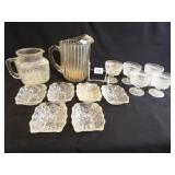 Clear Glass Pitchers, Bowls (10+)