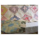 Quilt - handmade, names; Quilt Squares