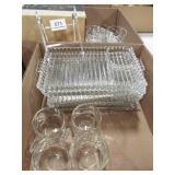 Glasss Platters (3), Snack Sets