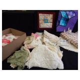 Handcrafted Linens, Doilies - 1 box