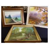 Original Painted Canvas, Framed (3)