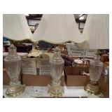 Lamps, Clear Glass Base (3)