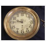 Ashcroft Metal Clock, with key