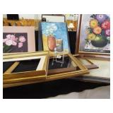 Original Painted Canvas, one Framed (3)