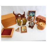 Wood Items - Boxes, Décor, More