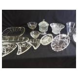 Clear Glass Serving Dishes, Bowls (15+)