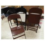 Metal Folding Chairs - 2 colors (4)