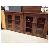 Old Wood Cabinets, Glass Doors, two units