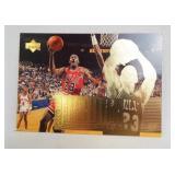 1996 Jordan Upper Deck Card on Plaque
