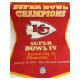 1970 KC Chiefs Super Bowl IV Pennant