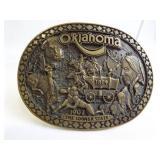 Brass Belt Buckle - Oklahoma