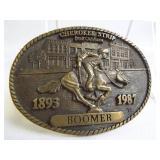 Brass Belt Buckle - Cherokee Strip, Enid, OK