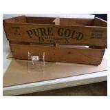 Pure Gold Brogdex Fruit Railroad Crate