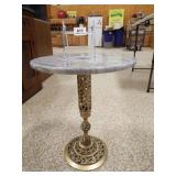 Accent Table, metal base, stone top