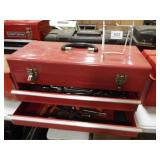 Metal Tool Box, with Tools