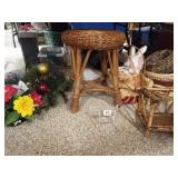 Baskets, Floral Displays, Woven Stool