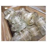 Glass Insulators (20+), Wood Box