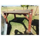 Metal Work Table on Casters