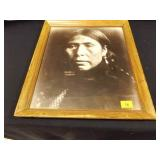 Native American Photograph; wood frame