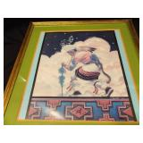 "Native American Picture Matted/Framed; 24½"" x"
