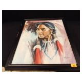 Original Native American Painting by A. Simon
