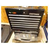 Black Craftsman Toolboxes w/Boxes of Odds and Ends