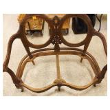 Victorian Style Loveseat Frame, No upholstery