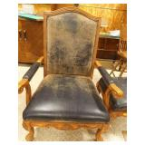 Large Leather Chair with Black upholstery